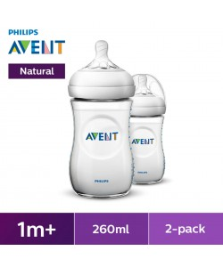 AVENT Natural Bottle 9oz/260ml Natural 2.0 Twin Pack