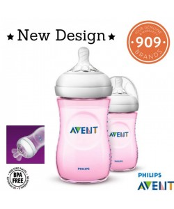 AVENT Natural Bottle (PINK) 9oz/260ml Natural 2.0 Twin Pack