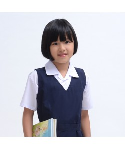 BINBI Primary School  Uniform  Girl Short Sleeve White Shirt