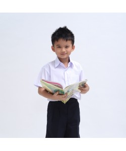 BINBI Primary School Uniform Boy Short Sleeve White Shirt (Koshibo)