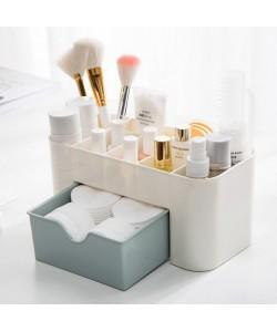 Plastic Desktop Multi Function Cosmetic Storage Box (Ready Stock)