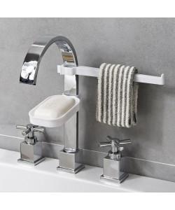 Faucet Drain Storage Stand Kitchen Sponge Cloth Rag Holder (Ready Stock)