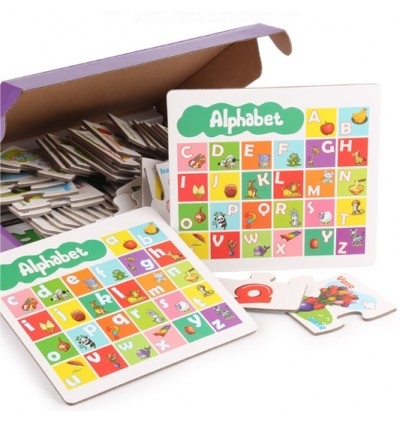Children Early Educational English Matching Puzzle Card (Ready Stock)