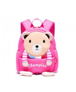 Girl Children Champion Bear Bear Backpack Pink