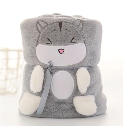 Cartoon Animal Blanket Folding Blanket (Ready Stock)