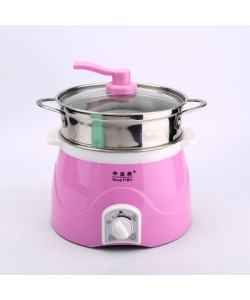 Multi-function Portable Cooking Pot Double Layer (PINK) 多功能电热锅