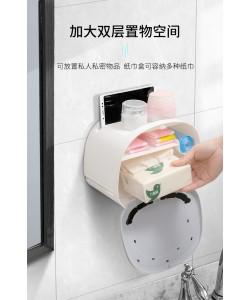 Waterproof Free Hole Toilet Paper Towel Box 免打孔廁紙置物架