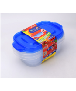Three-piece fresh-keeping Box 保鲜盒塑料收纳盒 (3 Pieces) BUY 3 FREE 1